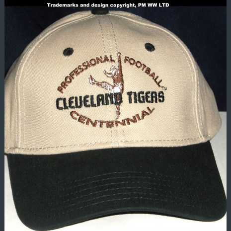 Cleveland Tigers Pro Football year one 1920 embroidered two-tone ballcap