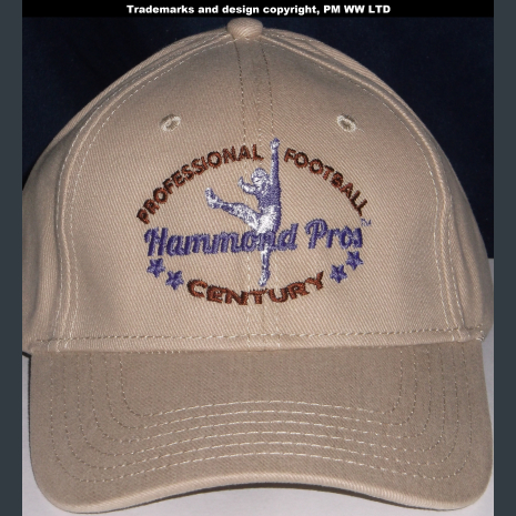 Hammond Pros Pro Football year one 1920 embroidered khaki ballcap