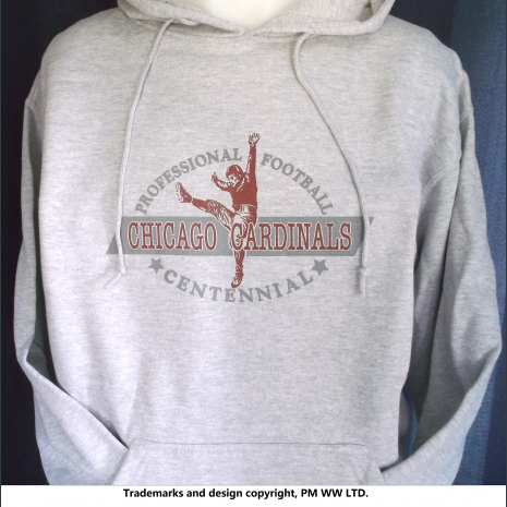 Chicago Cardinals Pro Football year one 1920 hoodie with hand warmer pocket