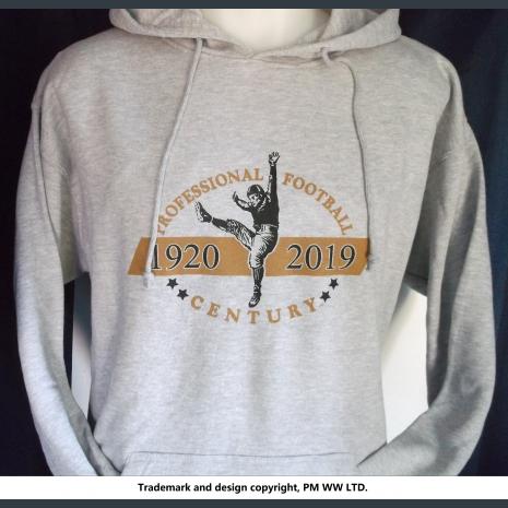 Pro Football 1920-2019 Century hoodie with hand warmer pocket