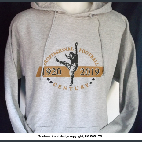 Pro Football 1920-2019 Century hoodie with hand warmer pocket