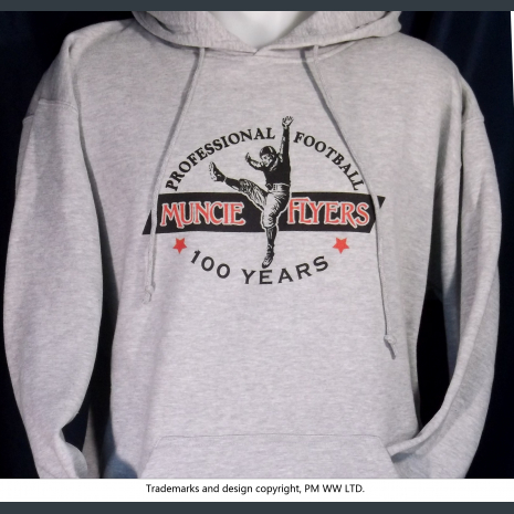 Muncie Flyers Pro Football year one 1920 hoodie with hand warmer pocket
