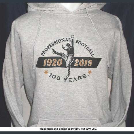100 years Pro Football 1920-2019  hoodie with hand warmer pocket