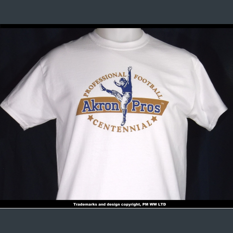 Akron Pros, Pro Football year one 1920 team, quality cotton shirt