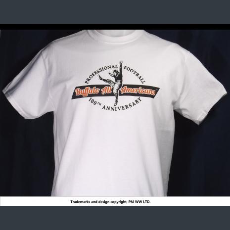 Buffalo All-Americans Pro Football year one 1920 team, quality cotton shirt
