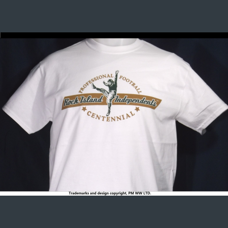 Rock Island Independents, Pro Football year one 1920 team, quality cotton shirt