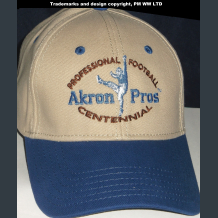 Akron Pros Pro Football year one 1920 embroidered two-tone team ballcap
