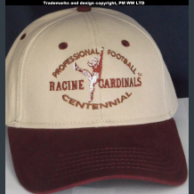 Racine Cardinals Pro Football year one 1920 embroidered two-tone ballcap