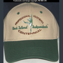 Rock Island Independents Pro Football year one 1920 team embroidered ballcap