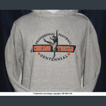 Chicago TIgers Pro Football year one 1920 hoodie with hand warmer pocket