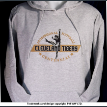 Cleveland Tigers Pro Football year one 1920 hoodie with hand warmer pocket