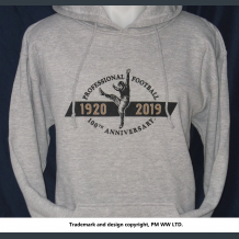 100th Anniversary Pro Football 1920-2019  hoodie with hand warmer pocket