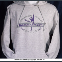 Hammond Pros Pro Football year one 1920 hoodie with hand warmer pocket