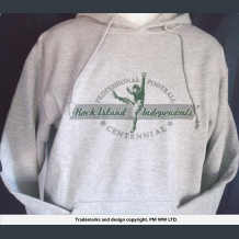 Rock Island Independents pro football year one hoodie & hand warmer pocket
