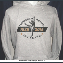 100 years Pro Football 1920-2019  hoodie with hand warmer pocket