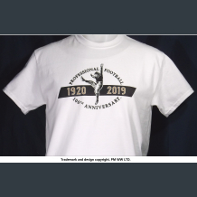 Pro Football 100th Anniversary 1920-2019, quality cotton shirt