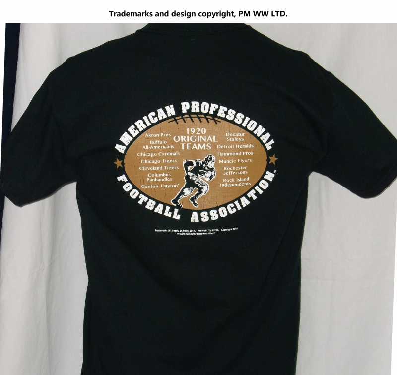 ... cotton shirt · Backside  Pro Football year one 1920 league pigskin  emblem cc892270b